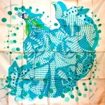 Hola flamenca (blanc turquoise)1